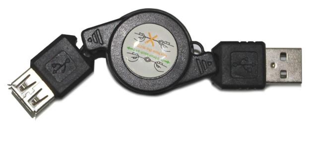 Кабель AM-AF 0.8м рулетка