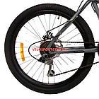 Подростковый велосипед Azimut Voltage 24 D серый, фото 6