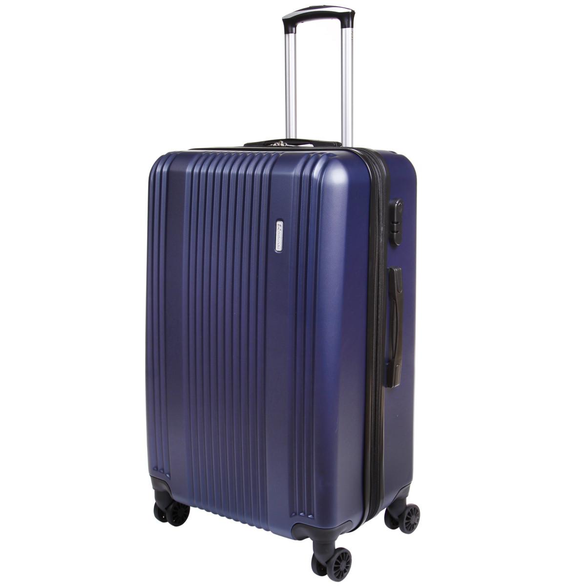 Чемодан OULANDO большой 4 колеса расширение пластик ABS  47х70х30(+3) синий  ксЛ516-28син