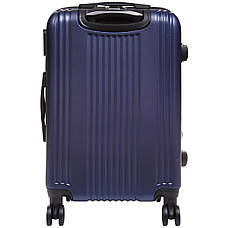 Чемодан OULANDO большой 4 колеса расширение пластик ABS  47х70х30(+3) синий  ксЛ516-28син, фото 3
