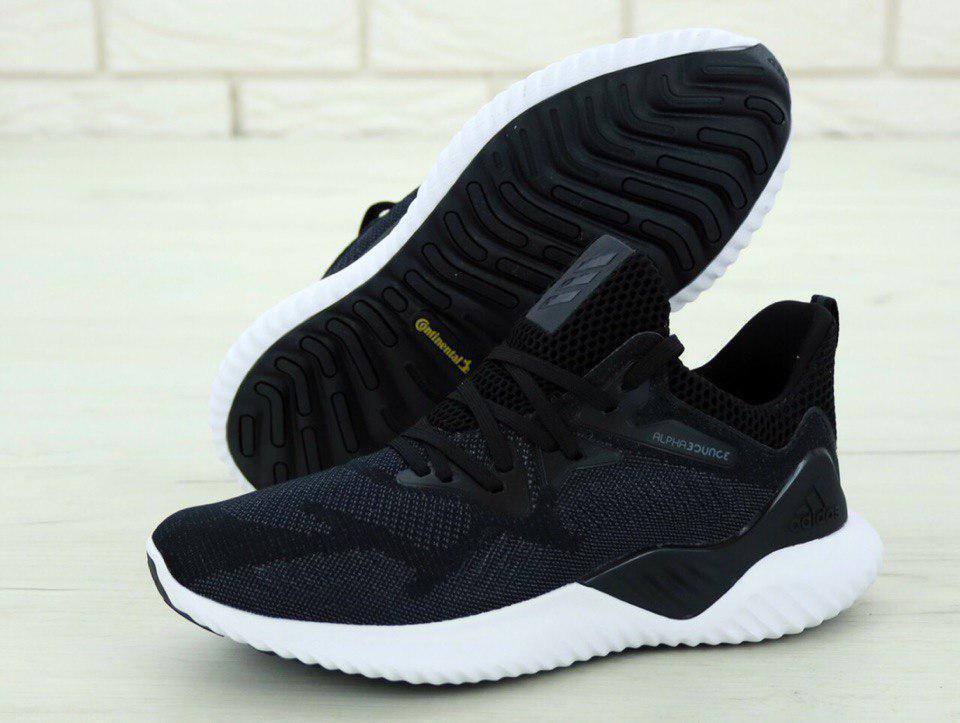 Кроссовки мужские Adidas Alphabounce 31266 серо-черные