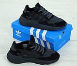 Кросівки чоловічі Adidas Nite Jogger 31270 чорні, фото 3