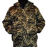 Куртка зимняя на резинке Пиксель с капюшоном 48-58 р.