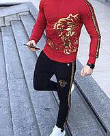 Спортивный костюм Versace D7136 черно-красный