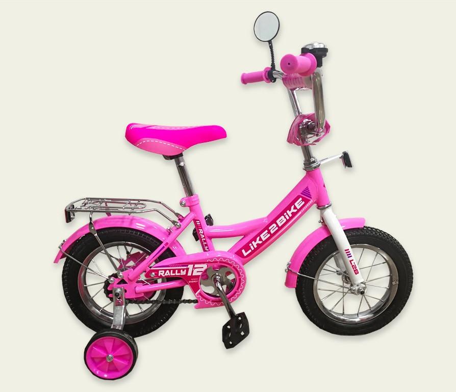 "Велосипед 2-х колёс 16""  Like2bike RALLY, розовый (191616)"