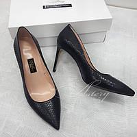 d70bbe18d Женские кожаные туфли с красной подошвой на шпильке с леопардовым ...