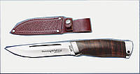 Нож охотничий 2290 LP. Рукоять - наборная кожа.охотничьи ножи,товары для рыбалки и охоты,оригинал