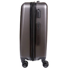 Чемодан OULANDO маленький 4 колеса  пластик ABS 36х48х22 тёмно-серый  ксЛ516-20тсер, фото 2