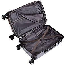 Валіза LYS маленький 4 колеса пластик ABS 36х48х22 темно-сірий ксЛ516-20тсер, фото 2