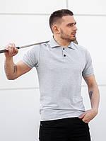 Мужская футболка поло BEZET Base grey '19, мужское серое поло, фото 1