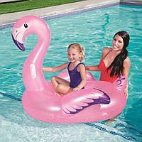Надувной плотик большой Розовый фламинго 127 см BW, фото 1