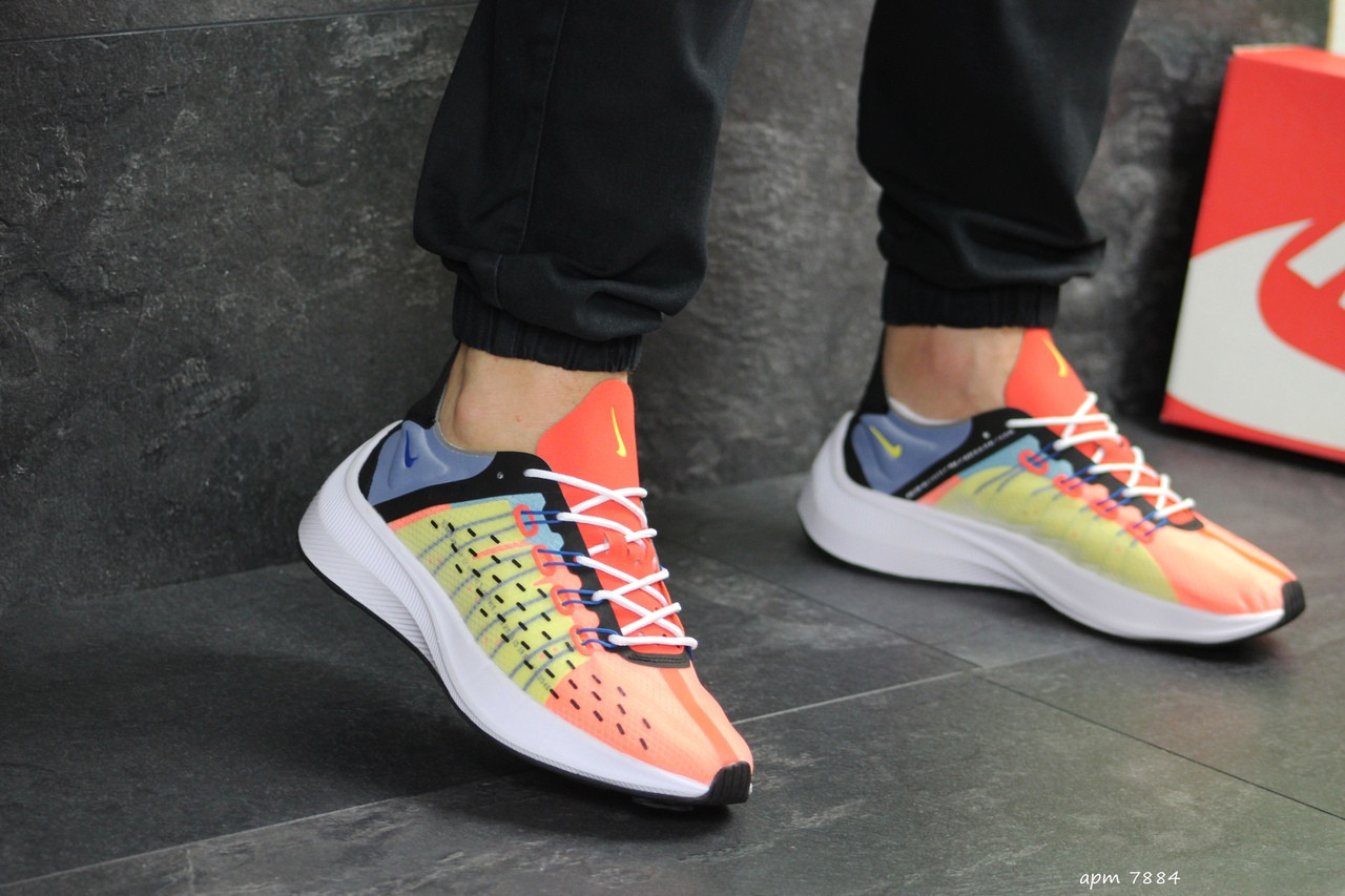 Мужские кроссовки Nike EXP-X14 (оранжево-желтые)