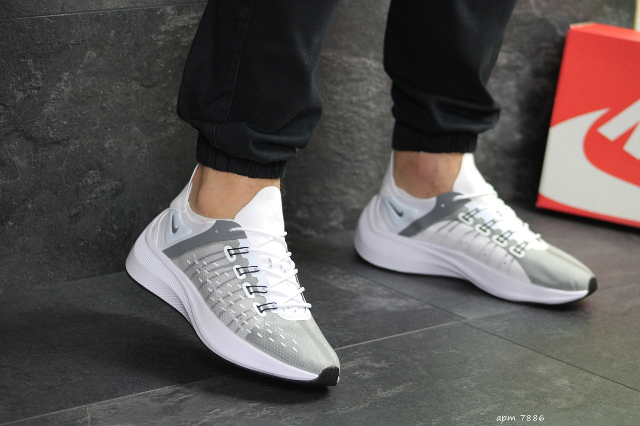 Мужские кроссовки Nike EXP-X14 (серо-белые)