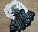 Комплект двойка реглан и юбка кот летучая мышь H&M (Англия) (Размер 6-8Т), фото 2