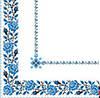 Салфетка Марго 24*24 3сл. Вишиванка квіти синя