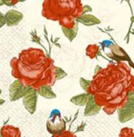 Салфетка Марго 24*24 3сл. Вінтажні троянди