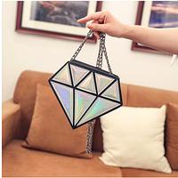 Небольшая женская сумка на плечо с инстаграм коллекции «Диамант»