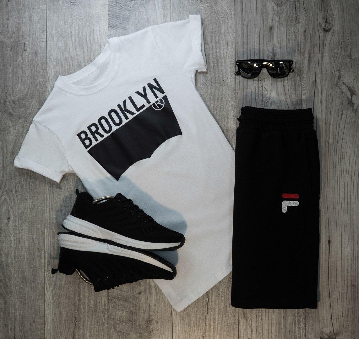 Мужская футболка в стиле Levi's белая (M, L, XL размеры)