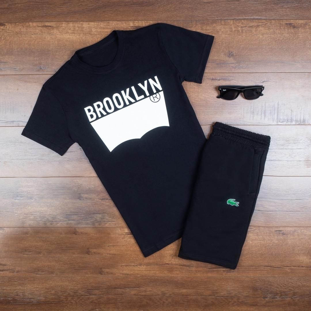 Мужская футболка в стиле Levi's черная (L, XL размеры)