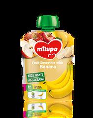 """Дитяче пюре фруктове """"Яблуко Банан"""" Milupa 80г, від 6 міс. м'яка уп. НОВИНКА!!!"""