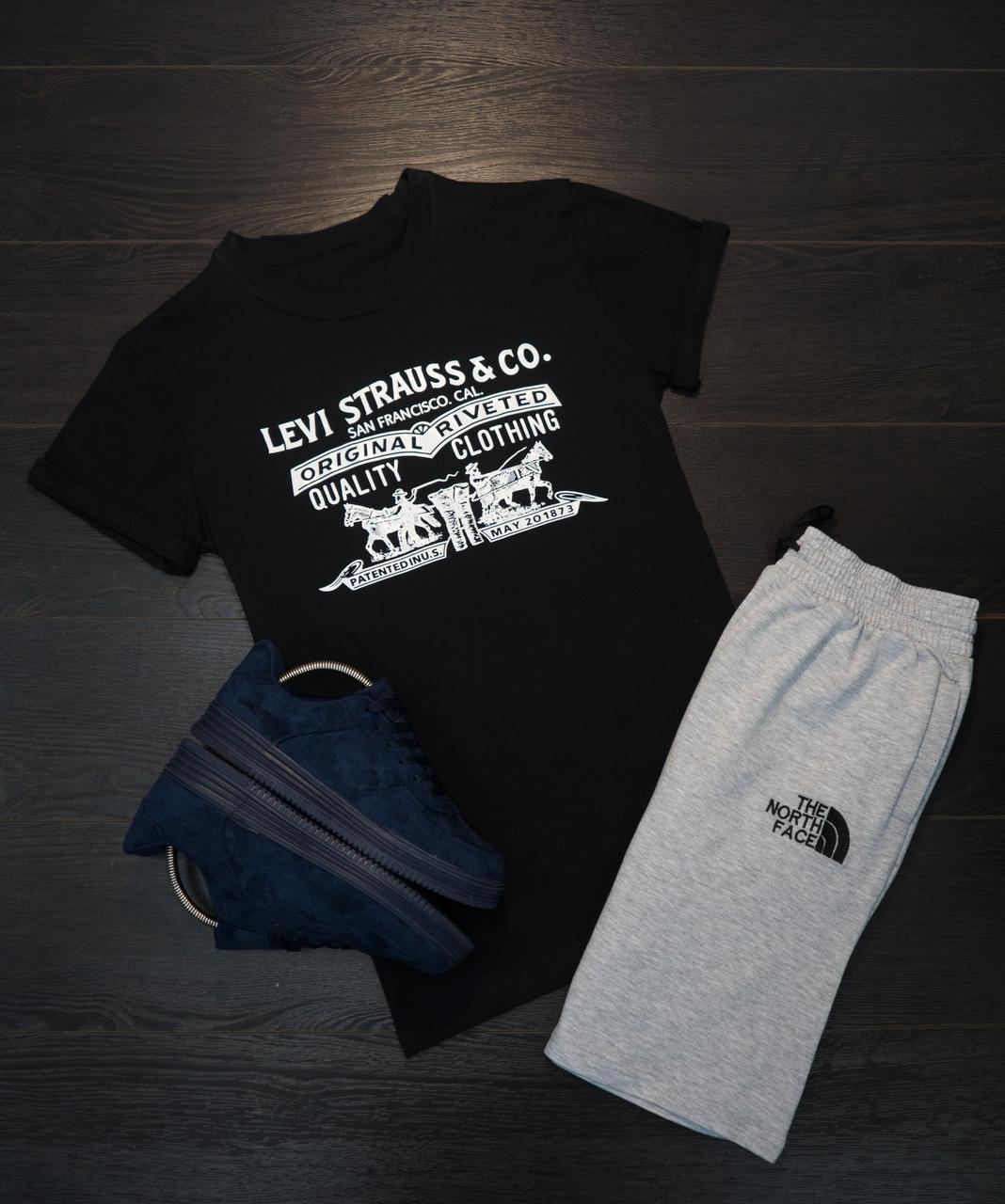 Мужская футболка в стиле Levi's черная (L размер)