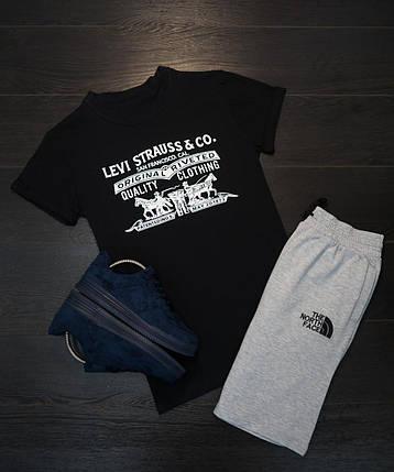 Мужская футболка в стиле Levi's черная (L размер), фото 2