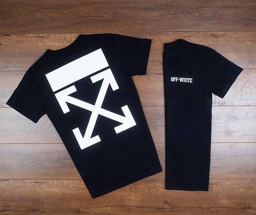 Мужская футболка в стиле Off White черная, фото 2