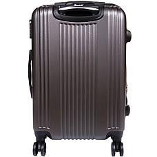 Валіза LYS великий пластик ABS розширення 4 колеса 47х70х30(+3) темно-сірий ксЛ516-28тсер, фото 3