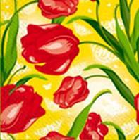 Салфетка Марго 24*24 3сл. Тюльпаны