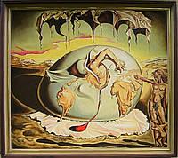 Сальвадор Дали*Геополитическое дитя,наблюдающее рождение Нового человека*Большая картина маслом в раме медику