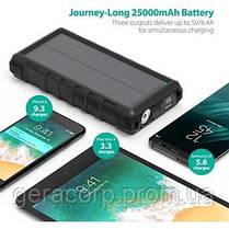 Внешний аккумулятор RavPower Power Bank 25000mAh Solar Charger Black (RP-PB083), фото 3