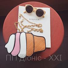 Небольшая женская сумка на плечо с инстаграм коллекции «Мороженое»