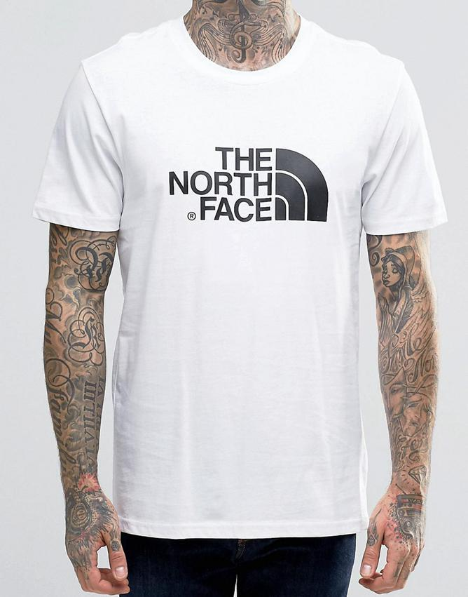 Мужская футболка в стиле The North Face белая