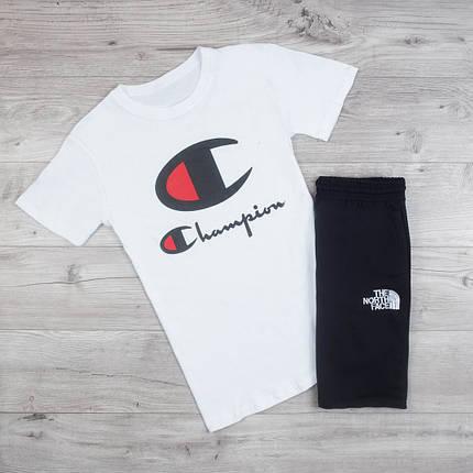 Мужская футболка в стиле Champion белая (M, L, XL размеры), фото 2