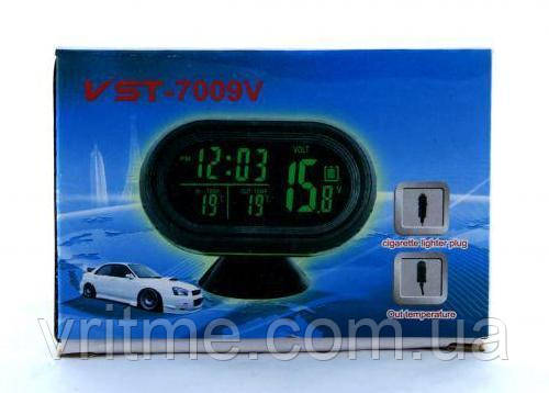 Автомобільний годинник (термометр, вольтметр) VST 7009V
