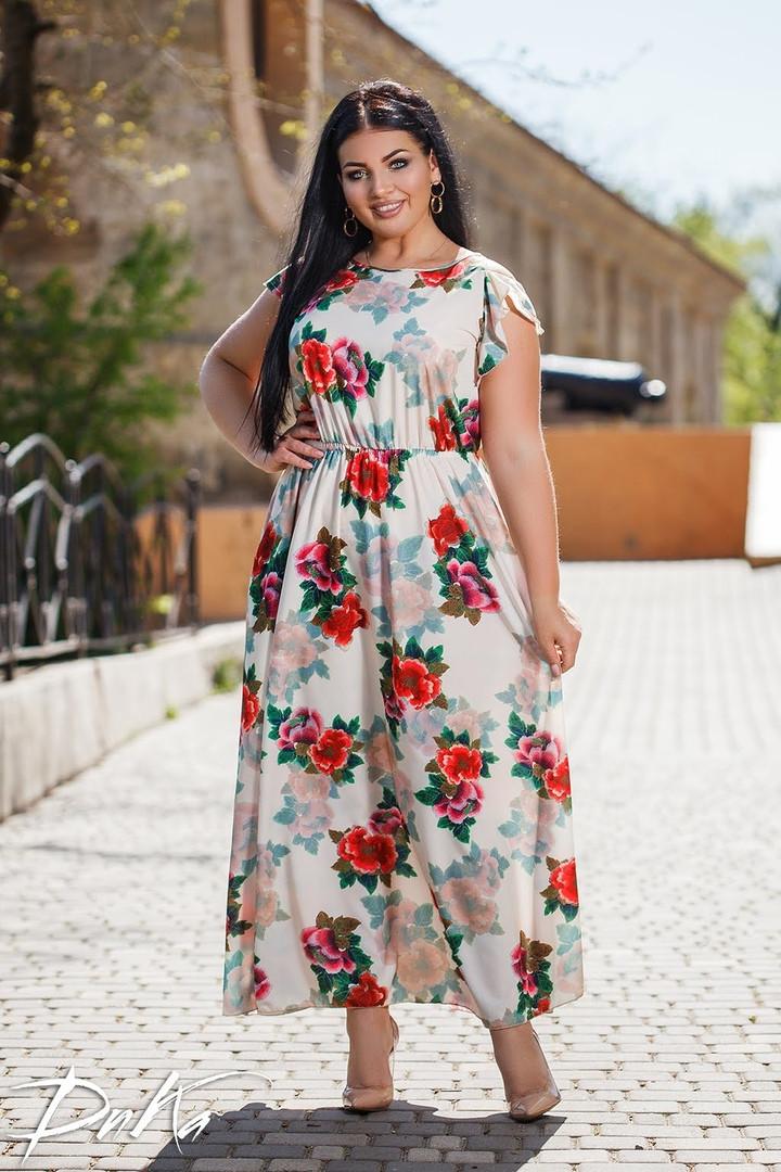 Длинное Платье  пр-во Турция  50-52,54-56  Цвета -  на фото