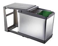 Выдвижной контейнер из пластика и алюминия для мусора Elletipi Tower PAL605/1ALL 29,5x49,5x44