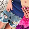 Стильные женские джинсовые шорты, синие, 211-1105