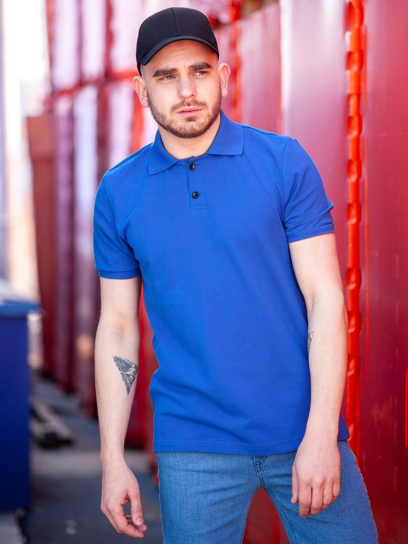 Мужская футболка поло BEZET Base aquamarine '19, мужское синее поло, синяя мужская тениска
