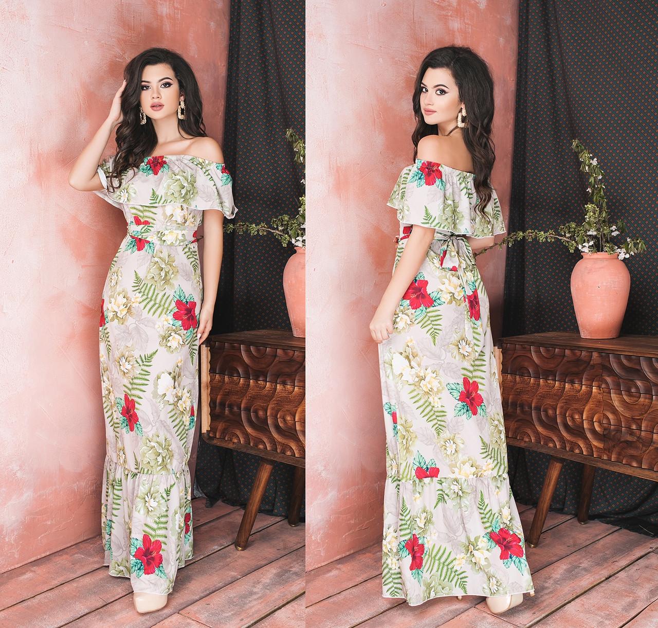 Женское длинное прямое платье.Размеры:42-46.+Цвета