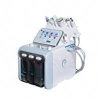 Апарат гидропилинга H2O2 6 в 1: Водневий пілінг, RF, УЗ Скрабер, Мікроструми (збірка Корея)