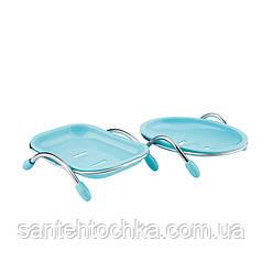 Lidz (PLA)-120.02.01 мыльница пластик прямоуг. (синяя)