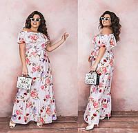Женское длинное прямое платье большого размера.Размеры:48-58.+Цвета
