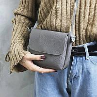 Женская сумка серая, фото 1