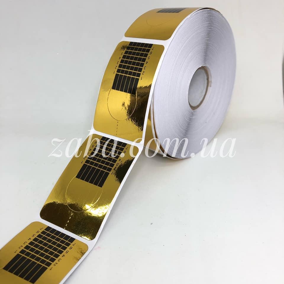 Формы для наращивания ногтей узкие, золото, 500 шт