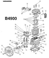 Запчасти на компрессор ABAC B 4900 OMA