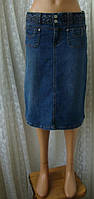 Юбка женская джинсовая миди бренд Denim Co р.42-44