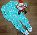 Микрофлисовый человечек слип пижама Снеговички Carter's (США) (Размер 8Т), фото 3
