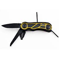 Нож многофункциональный RIAS KB006 Black (2_002070)