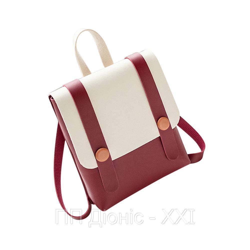 Рюкзак / Сумка маленькая красного цвета